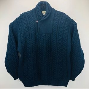 L.L. Bean Sweaters - 🥂Sold🥂Vintage LL Bean Wool Cable Knit Fisherman